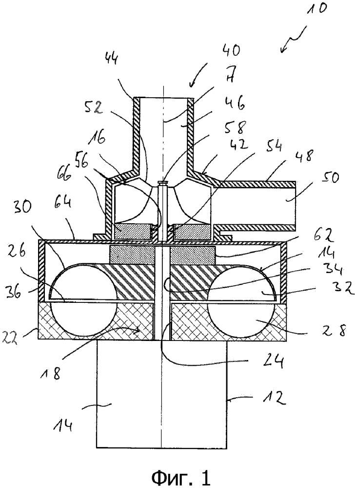 Транспортирующее устройство для подачи двух движущихся раздельно друг от друга потоков сред, в частности, в бензиновом обогревателе транспортного средства
