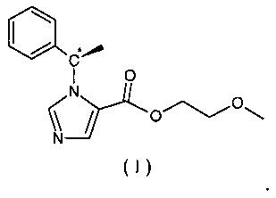 Сложноэфирное хиральное соединение (n-замещенный имидазол)-карбоновой кислоты, содержащее простую эфирную боковую цепь, его получение и применение