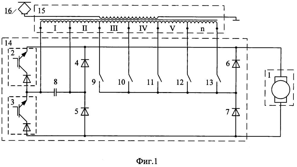 Тяговый преобразователь электроподвижного состава переменного тока и способ его управления
