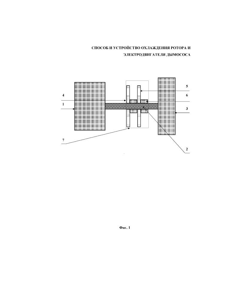 Способ и устройство охлаждения ротора и электродвигателя дымососа