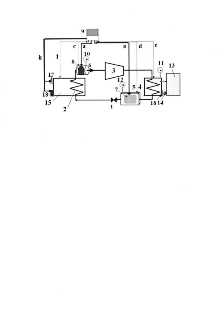 Стенд для исследования параметров функционирования бытовых тепловых насосов
