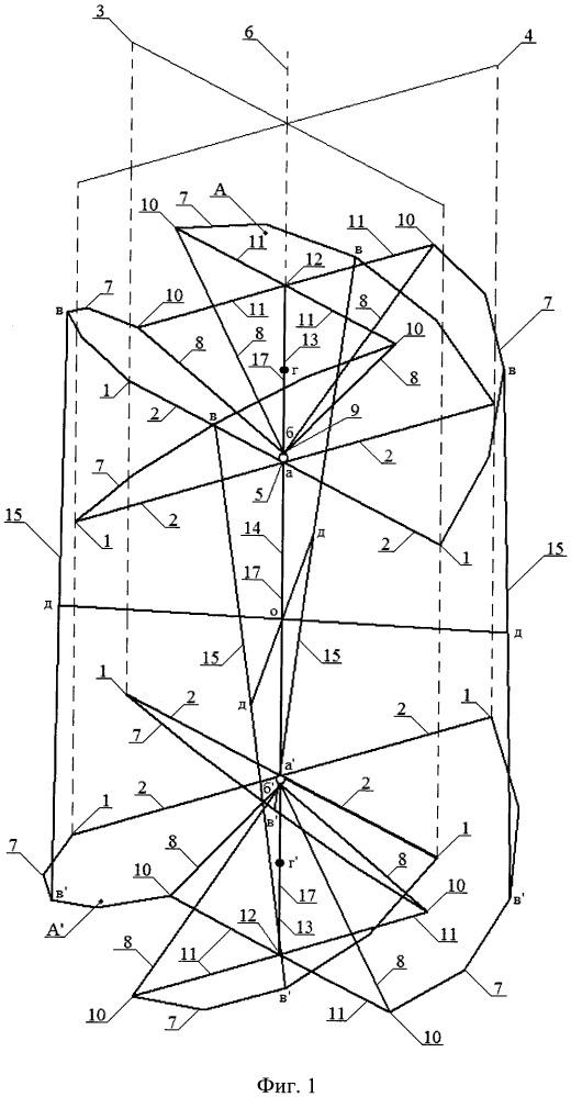 Этажерочная антенна круговой поляризации