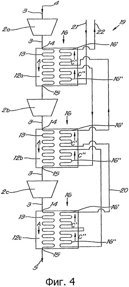 Компрессорное устройство и используемый с ним охладитель