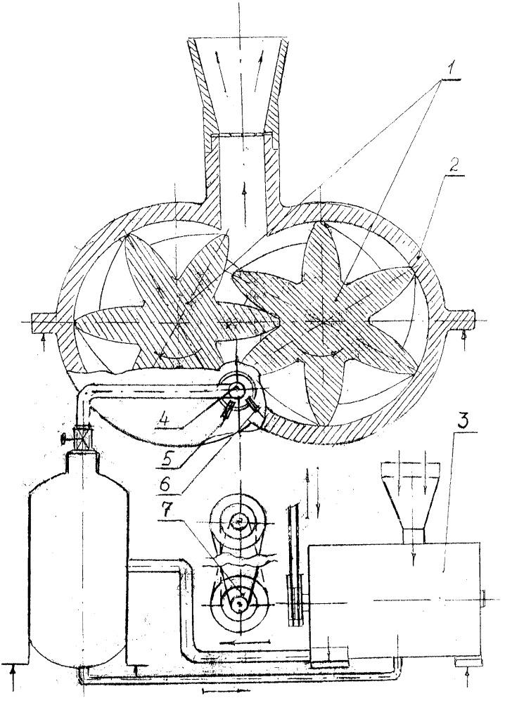Прямоточный роторно-компрессорный двигатель внутреннего сгорания