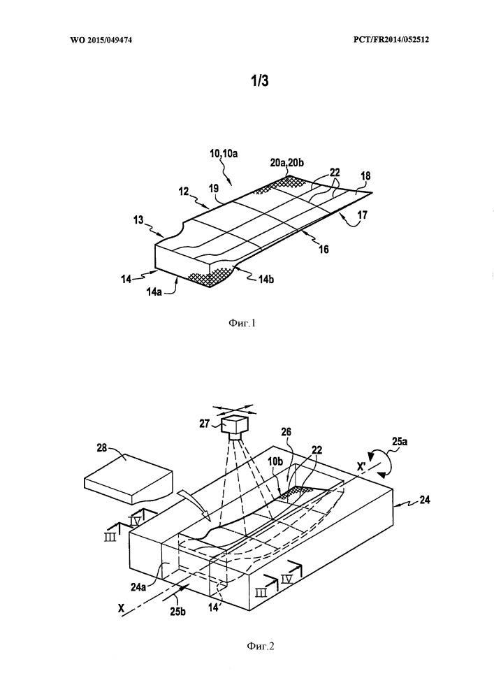 Способ и устройство для изготовления композитной лопатки