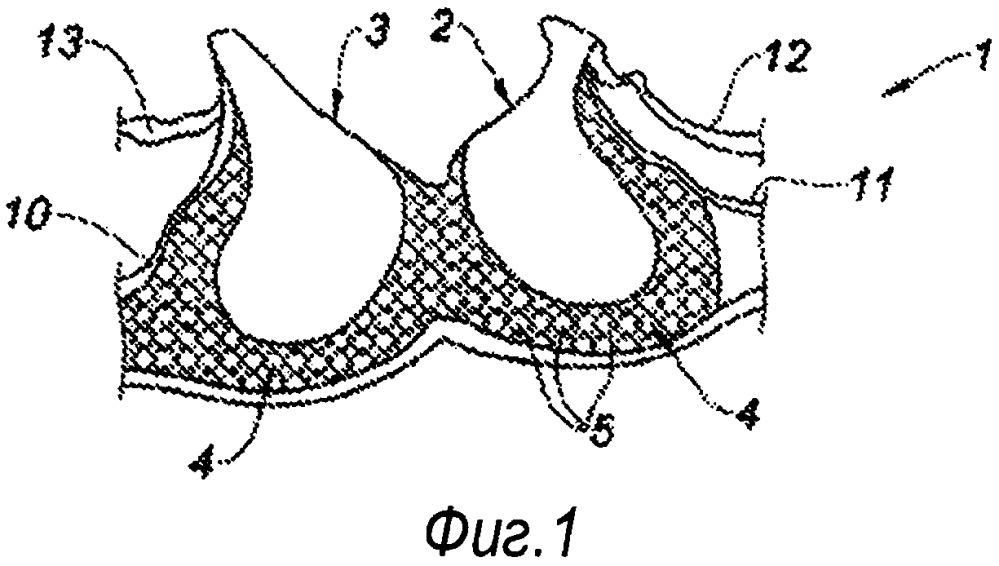 Бюстгальтер с поддерживающей частью из пеноматериала