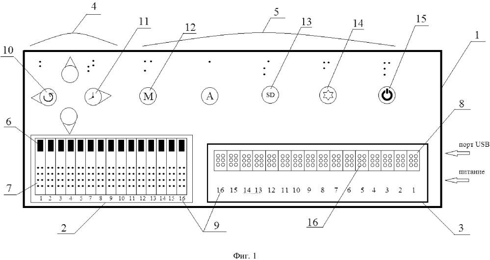 Устройство для ввода и чтения информации в коде брайля
