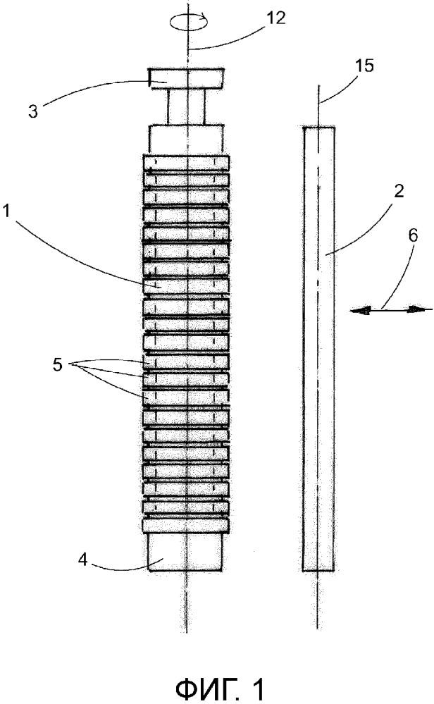 Способ и устройство для извлечения кольцевых эластомерных фасонных деталей с формовочного стержня