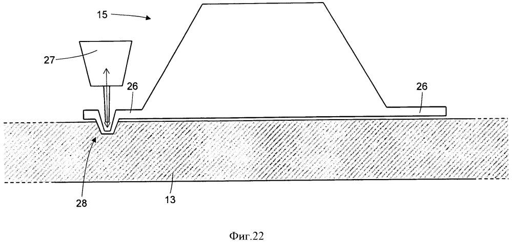 Способ изготовления протектора шины с грунтозацепами и система для его осуществления