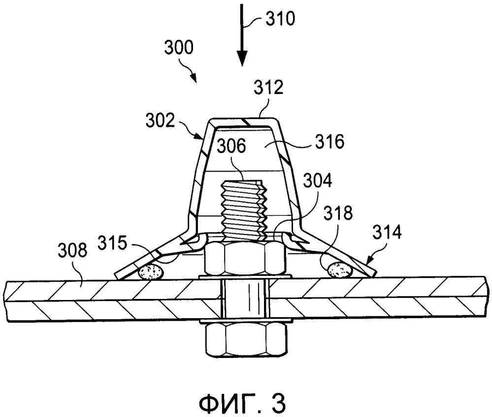 Уплотнительная система для герметизации крепежных элементов