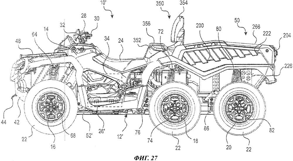 Шестиколесное транспортное средство повышенной проходимости