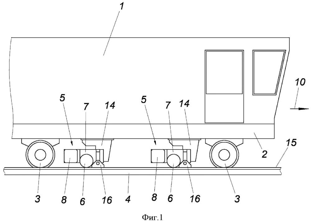 Рельсовое транспортное средство с устройством для чистовой обработки поверхности качения рельсов железнодорожной колеи
