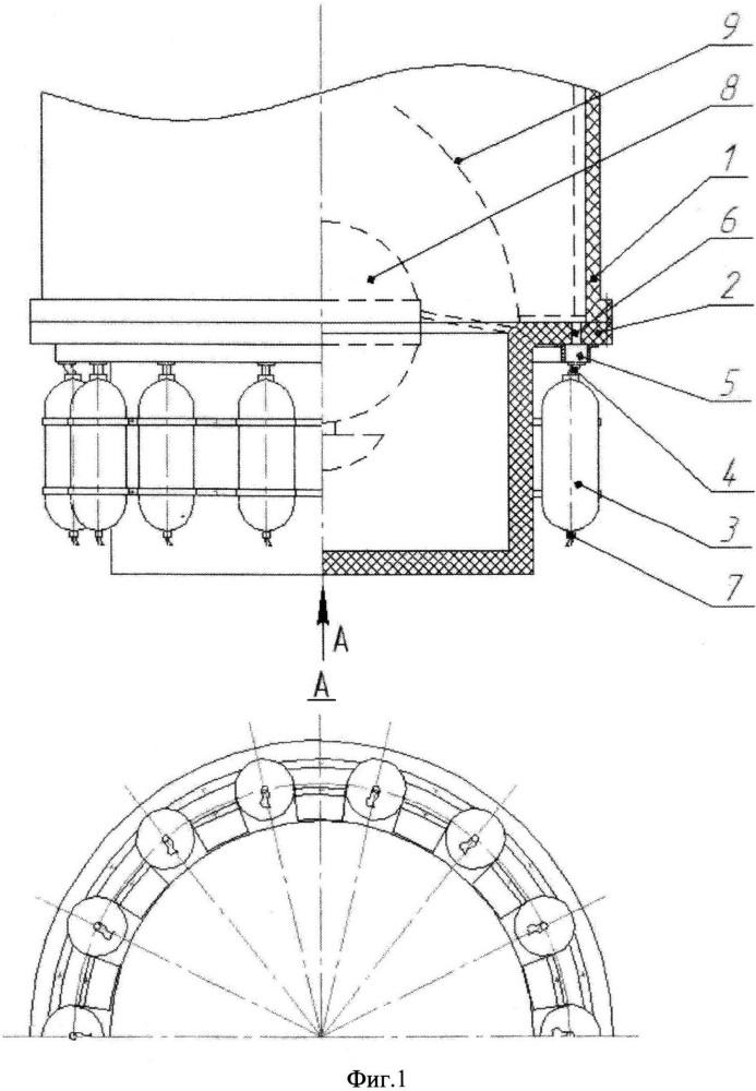 Способ охлаждения внутренней поверхности транспортно-пускового контейнера (тпк) при воздействии на нее продуктов сгорания стартового порохового аккумулятора давления (пад) при минометном старте твердотопливной ракеты и тпк для его осуществления