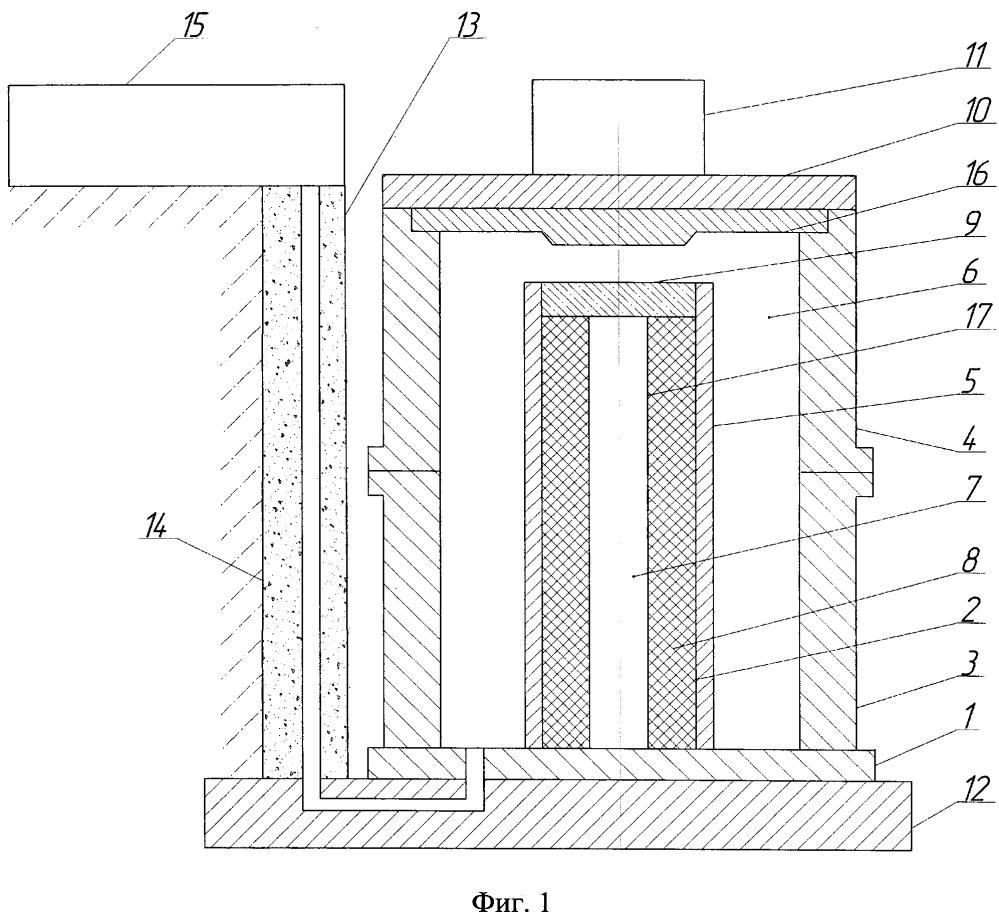 Литейная форма корпуса контейнера для транспортировки и хранения отработавшего ядерного топлива