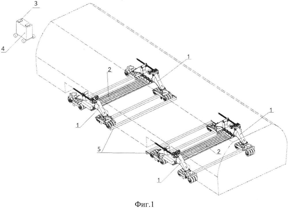 Управляемый колесный погрузочно-разгрузочный комплекс для транспортных самолетов, оборудованных грузовой рампой, и способ погрузки-выгрузки крупногабаритных грузов в/из транспортных самолетов с использованием управляемого колесного погрузочно-разгрузочного комплекса для транспортных самолетов