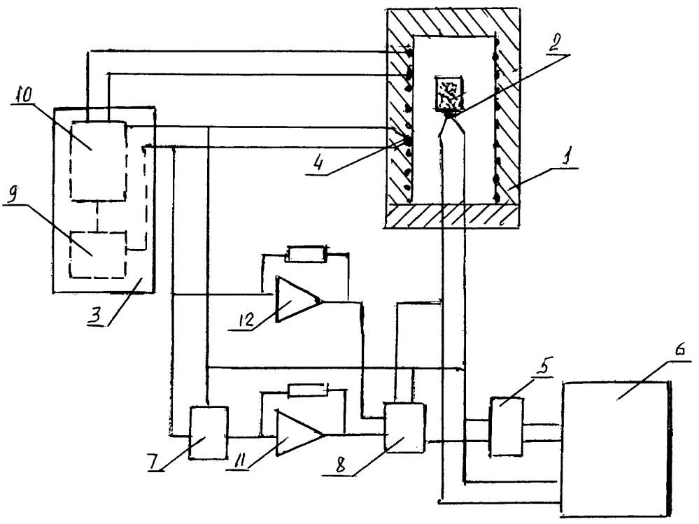 Устройство безэталонного дифференциального термического анализа с управляемым ходом дифференциальной записи при настройке