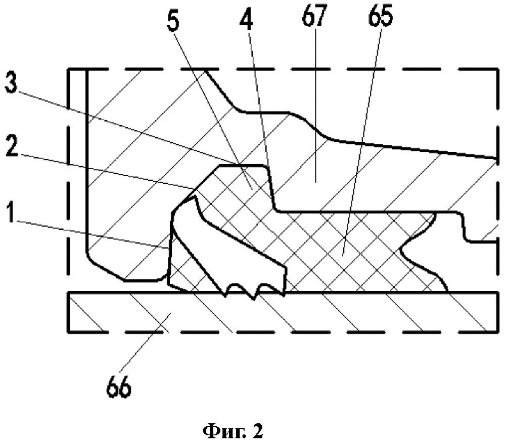 Раструбное соединение труб с крепежной конструкцией