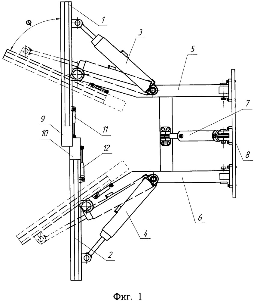Передний поворотный v-образный отвал