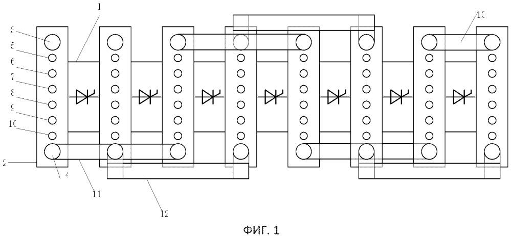 Тиристорный радиатор в сборе для предохранительного клапана постоянного тока