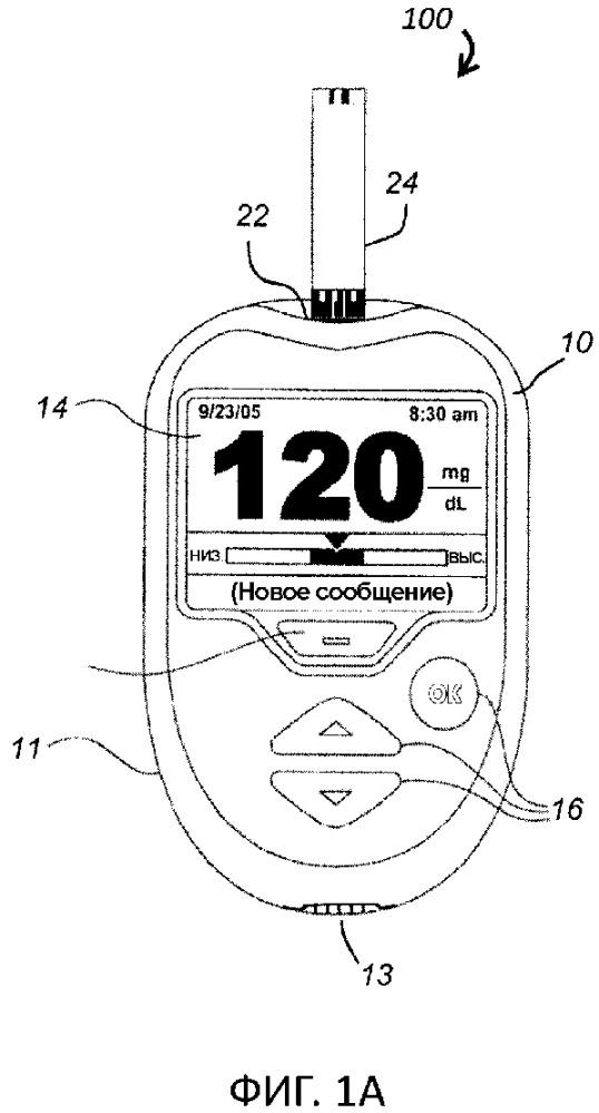Аналитическая тест-полоска со встроенным аккумулятором