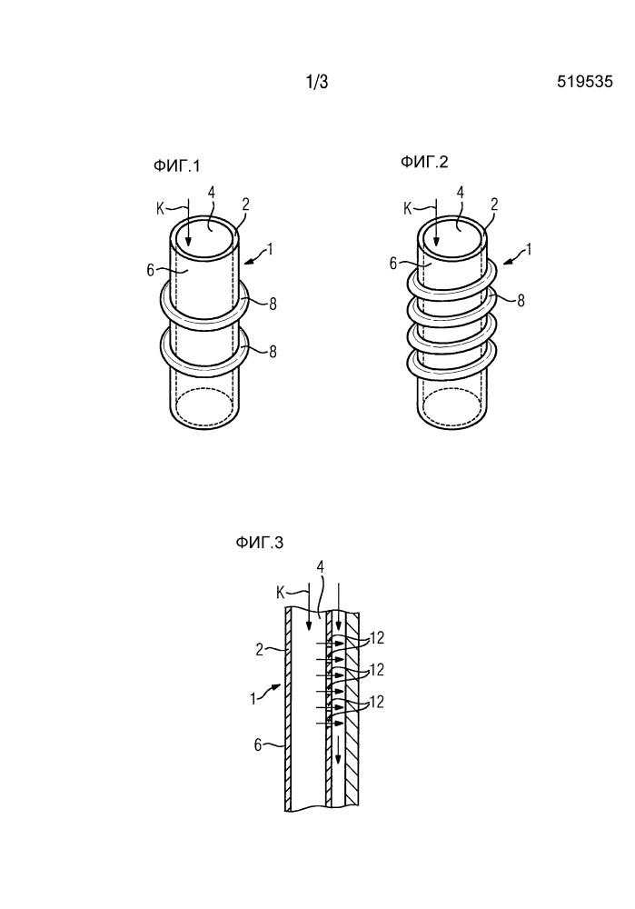 Обходной канал для охлаждающего средства для газовой турбины, вставляемый в полую охлаждаемую лопатку турбины
