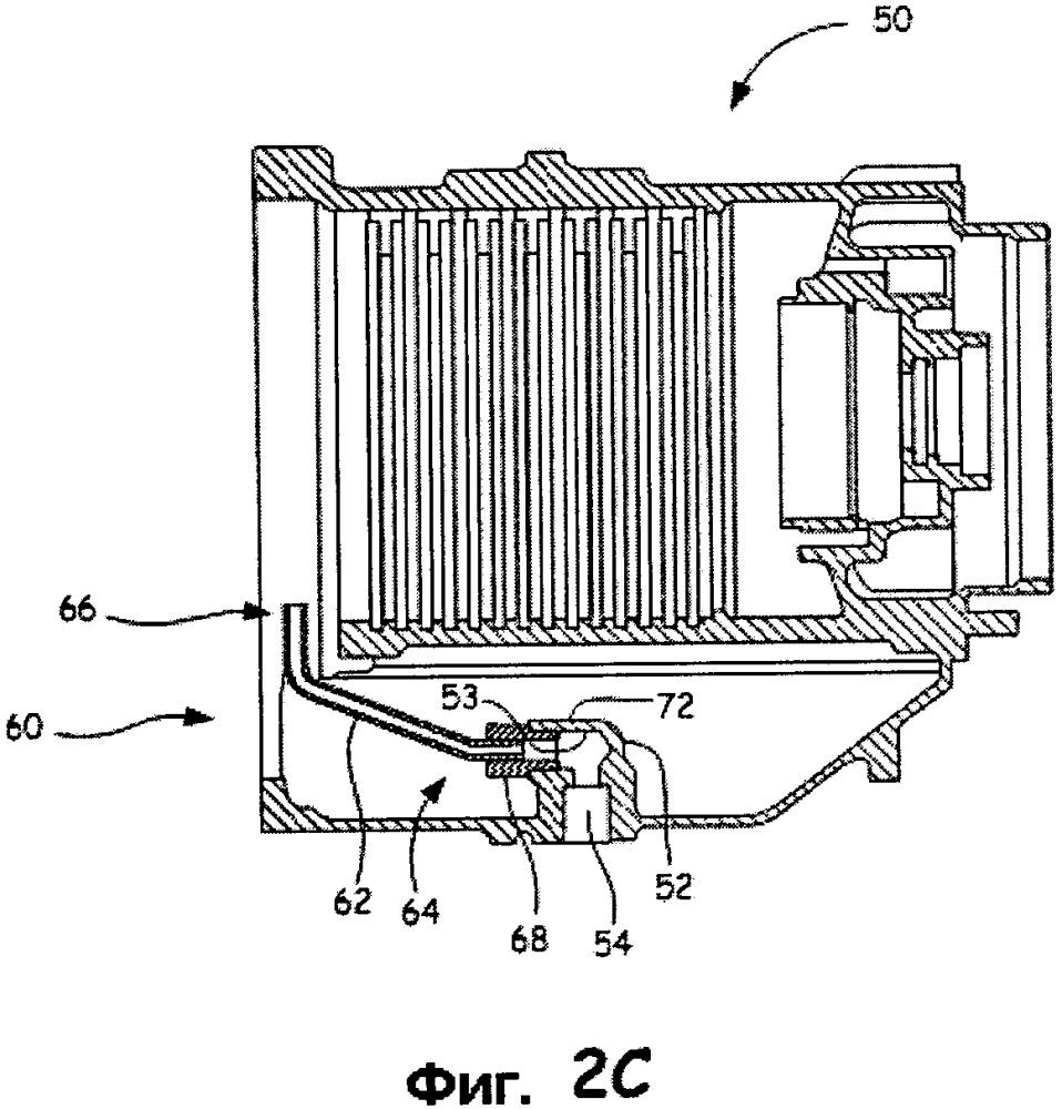 Узел отводной трубы, стартер-генератор и способ установки узла отводной трубы в стартер-генератор