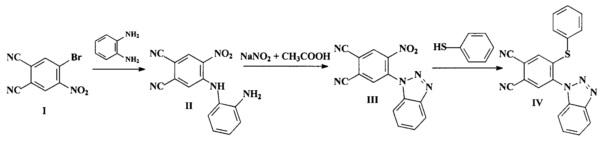 Способ получения 4-(1-бензотриазолил)-5-фенилсульфанилфталонитрила