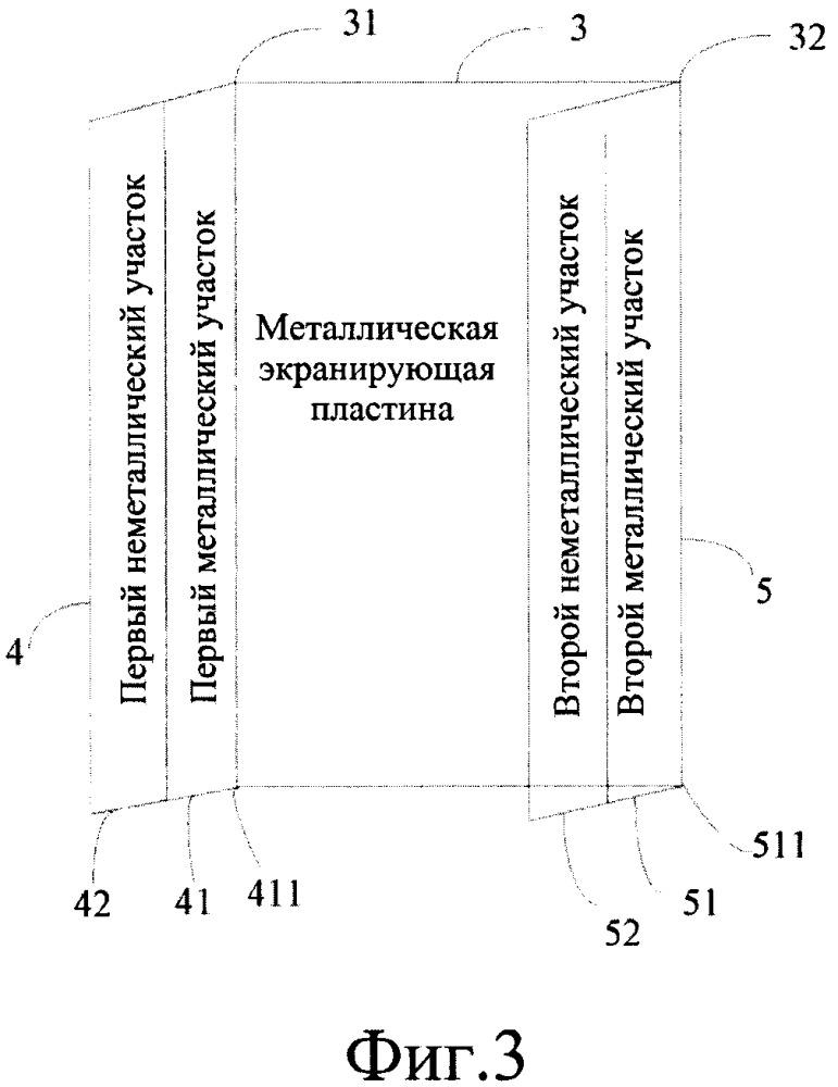 Средняя рамка корпуса мобильного терминала и мобильный терминал