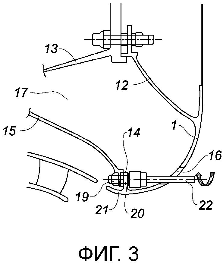 Крышка центробежного компрессора, выполненная с возможностью крепления через выходную сторону вблизи своего входного края, газотурбинный двигатель, содержащий эту крышку