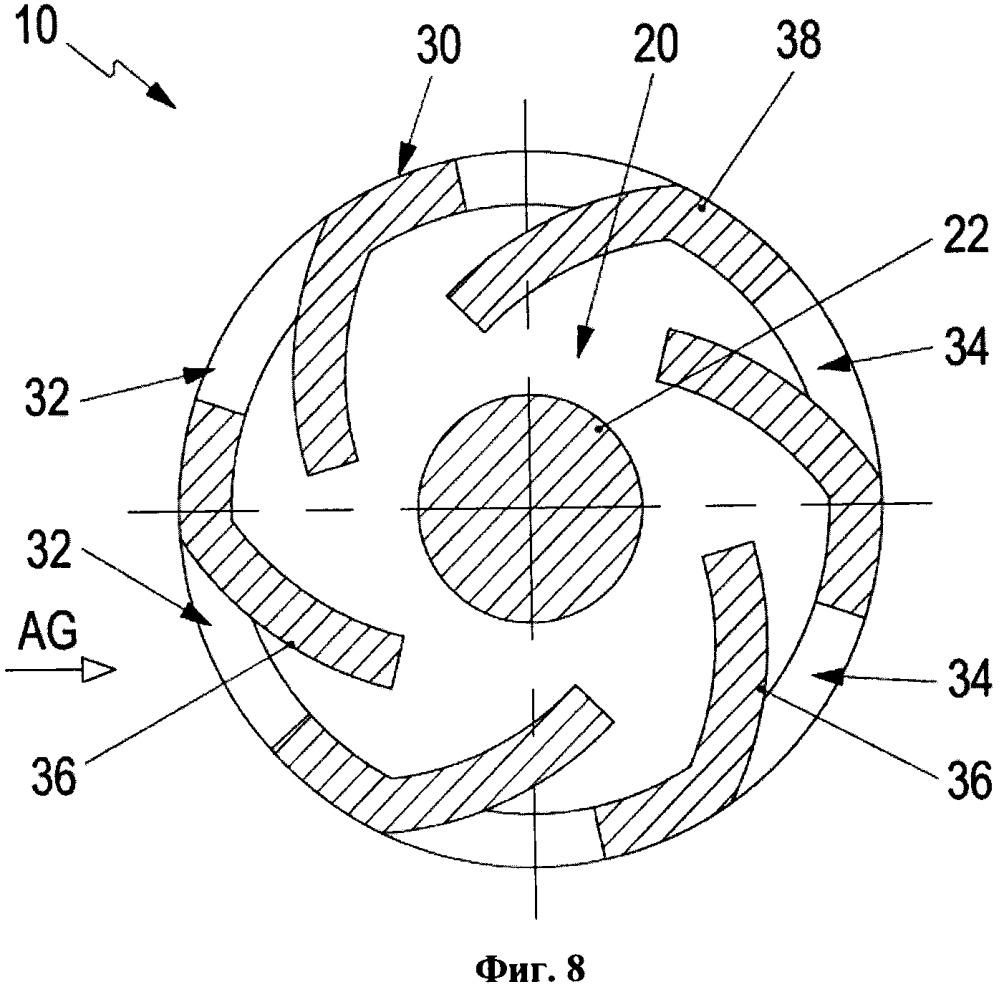 Датчиковое устройство и измерительное устройство для определения температуры выхлопных газов двигателя внутреннего сгорания