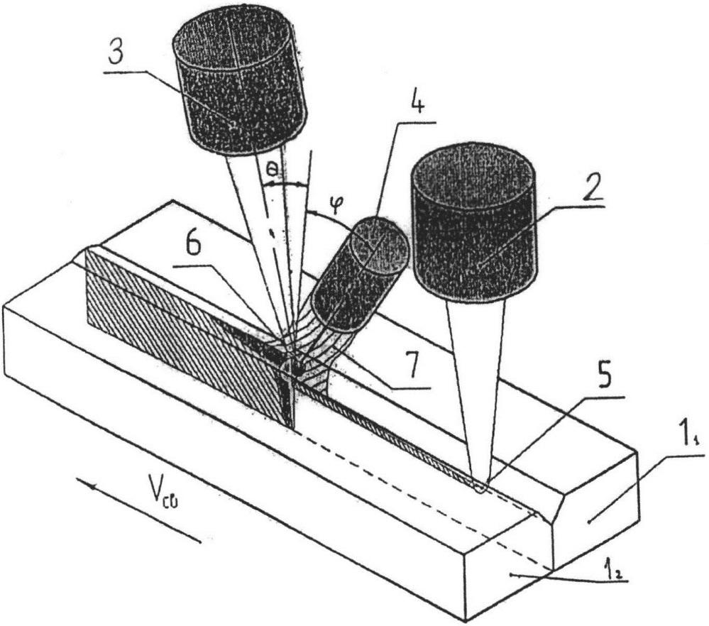 Способ лазерно-дуговой сварки стыка заготовок из углеродистой стали с толщиной стенок 10-45 мм