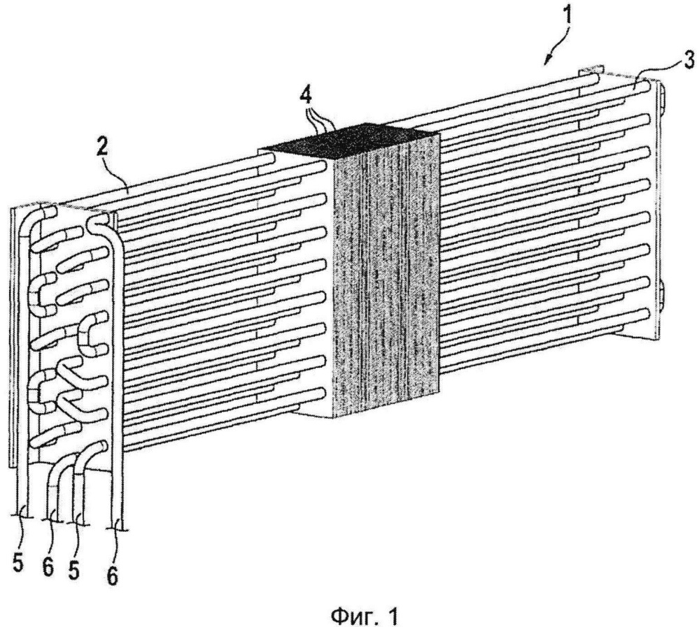 Теплообменник для охлаждения электрошкафа и соответствующая охлаждающая структура