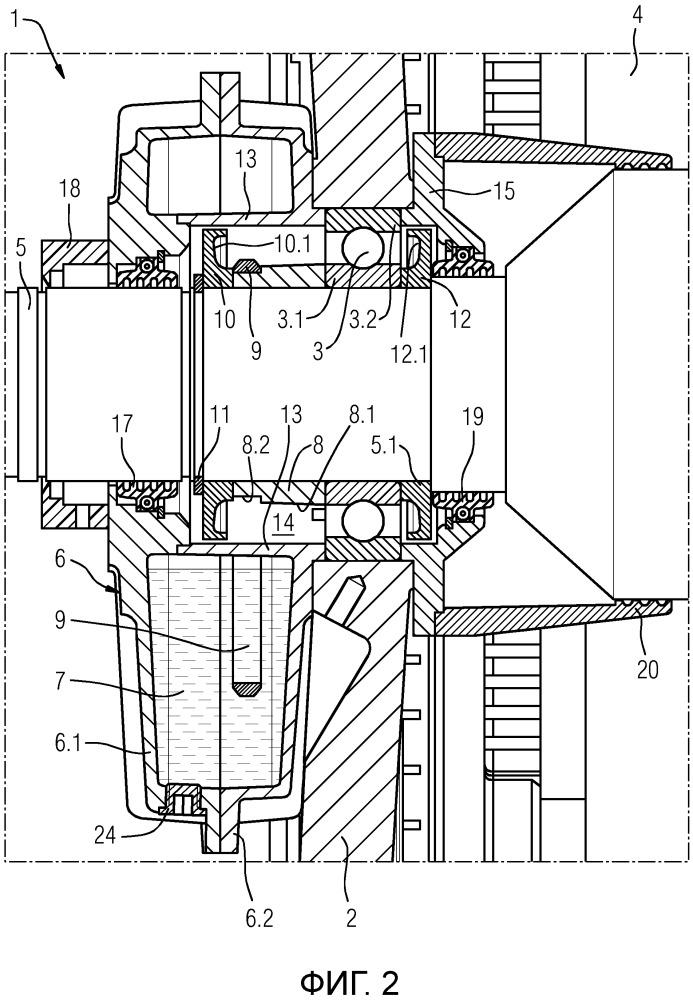 Устройство для смазки подшипника качения электродвигателя
