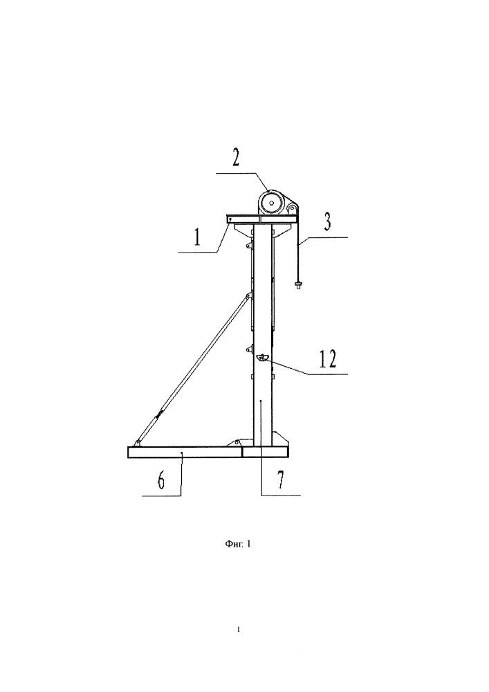 Безбалансирный станок-качалка с одним двигателем и редуктором, встроенным в ролик