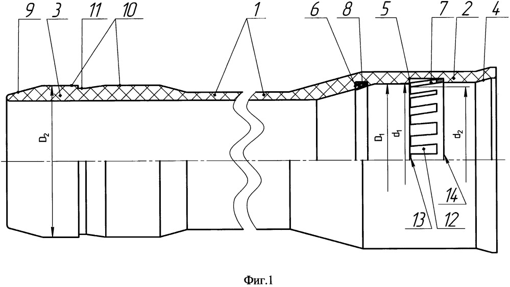 Линейный элемент сборно-разборного трубопровода
