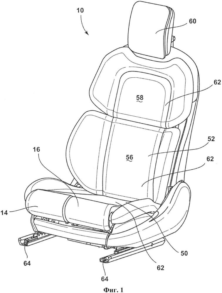 Кресло для транспортного средства с независимыми опорами для бедер