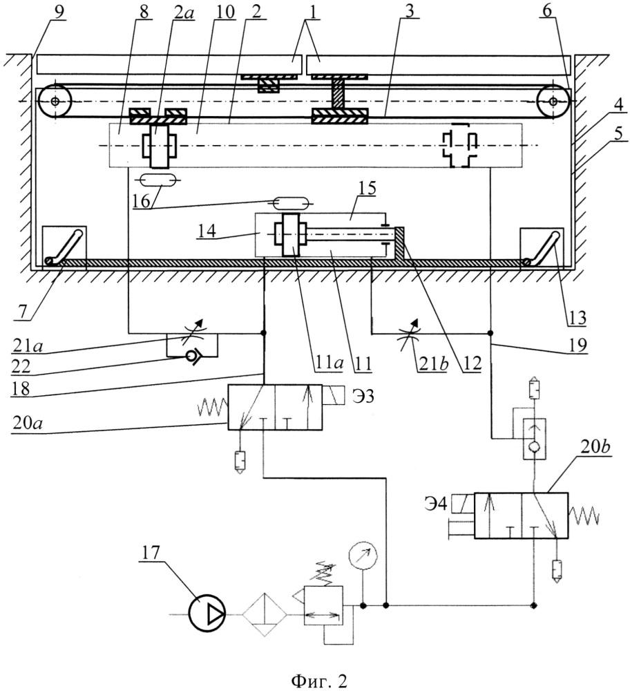 Система управления пневматическим приводом прислонно-сдвижной двери пассажирского вагона