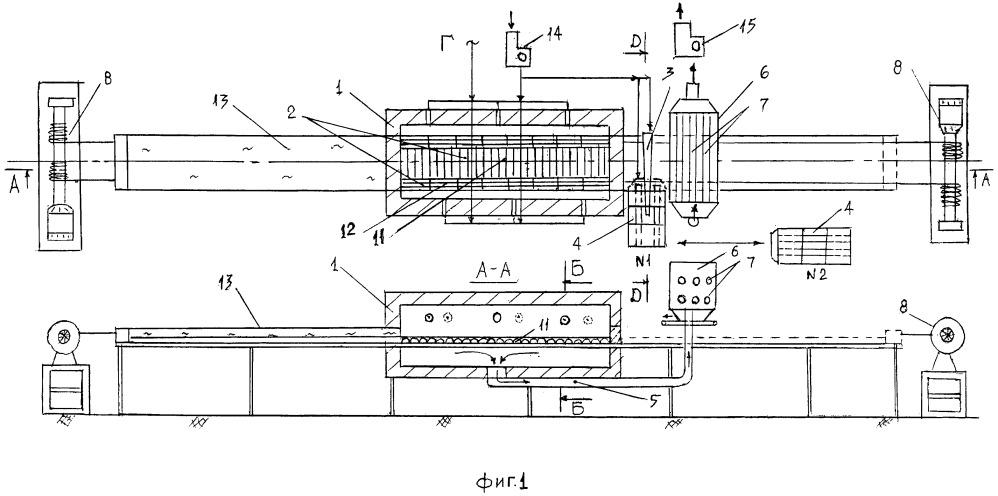 Тепловой агрегат для скоростного обжига пористых заполнителей в неподвижном монослое