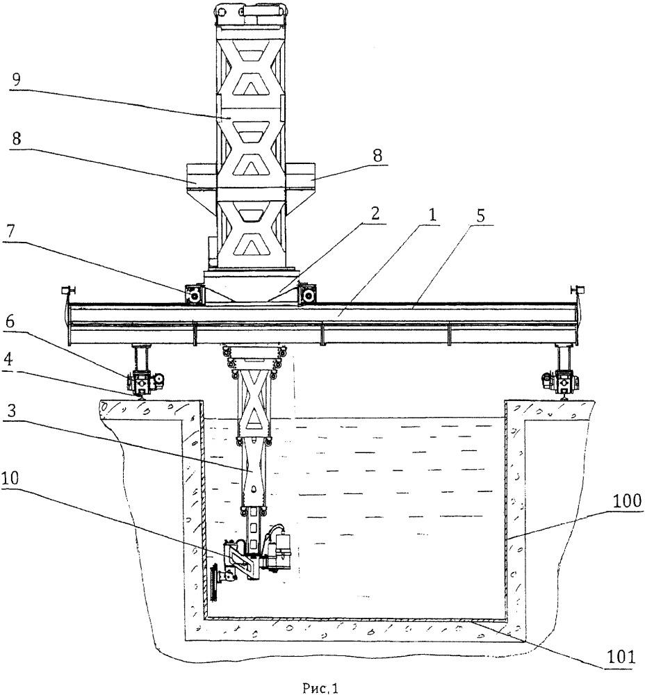 Устройство для ремонта облицовки бассейна выдержки