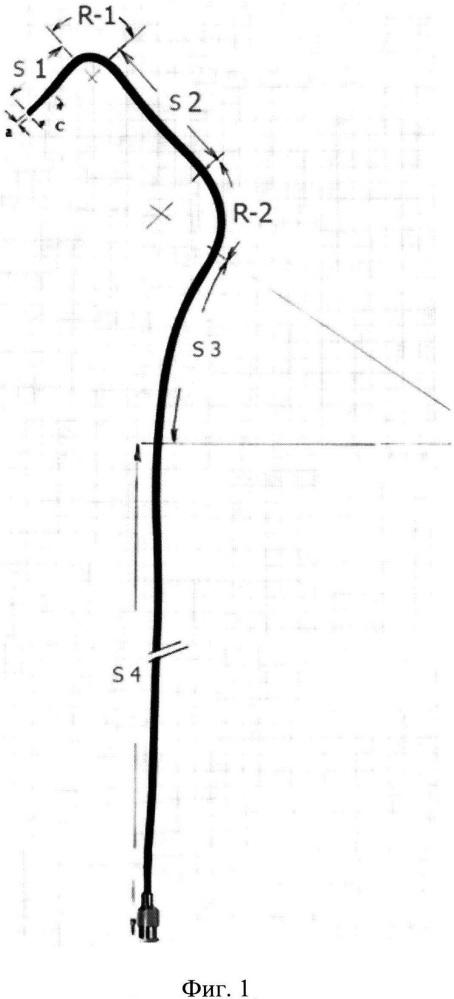 Ангиографический бронхиальный катетер для катетеризации бронхиальных и межреберных артерий