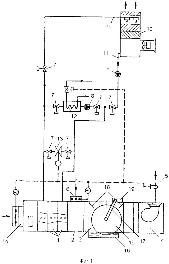 Система кондиционирования с теплообменными аппаратами