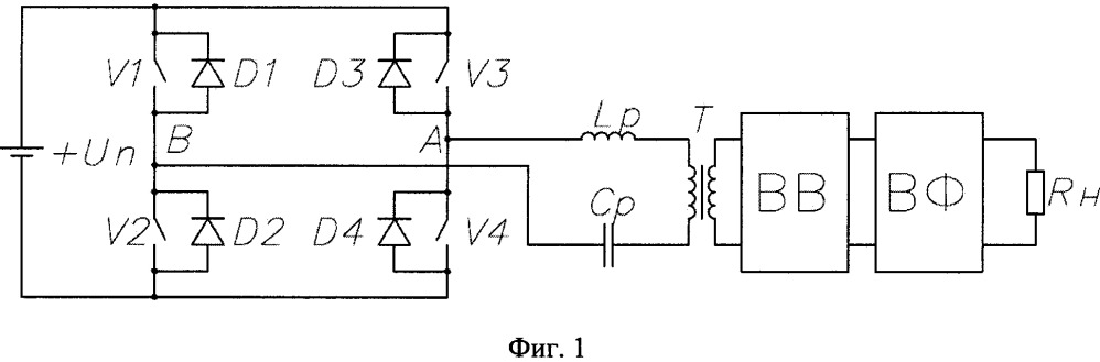 Способ широтно-импульсного регулирования резонансного преобразователя с фазовой автоподстройкой частоты коммутации