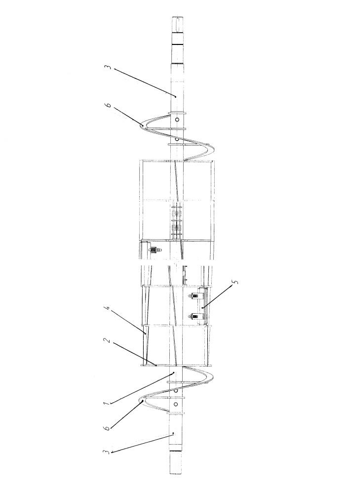 Лопаточно-скребковый шнековый транспортер