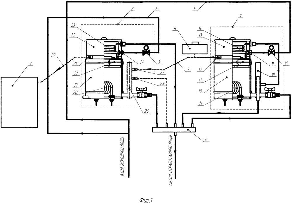 Бидистиллятор с повышенной энергоэффективностью
