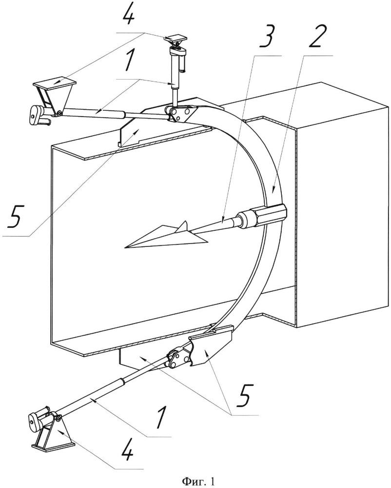 Устройство для управления положением модели в аэродинамической трубе