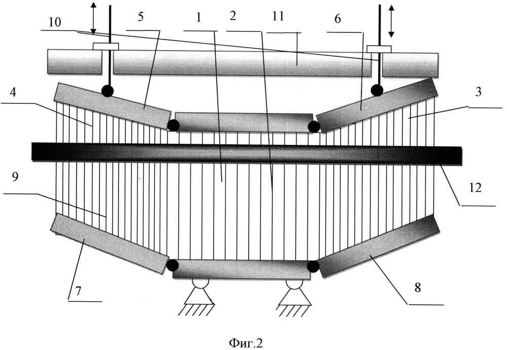 Бердо к ткацкому станку для выработки изделий переменной ширины