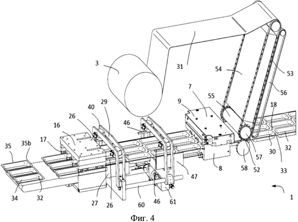 Машина для упаковки в модифицированной газовой среде, скин-упаковки или вакуумной упаковки и способ указанных упаковок