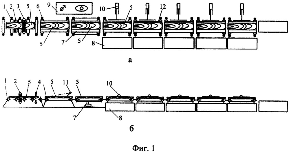 Линия сортировки деревянных заготовок