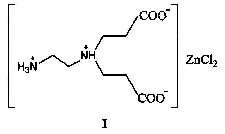 Способ получения цинкового комплексоната асимметричной этилендиамин-n,n-ди(3-пропионовой кислоты)