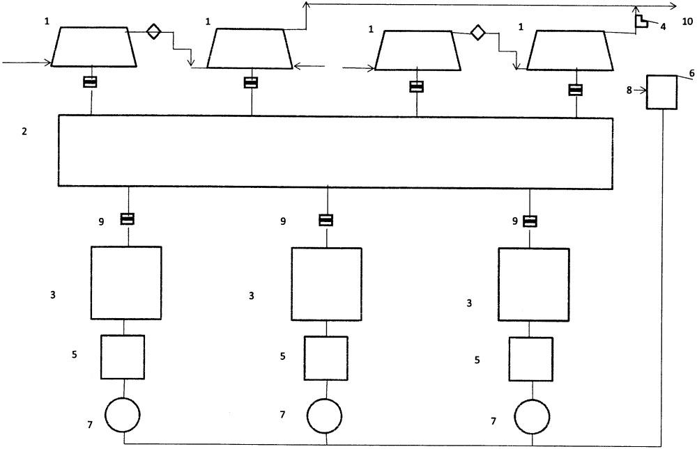 Способ резервирования мощности привода компрессорного цеха и система для его осуществления